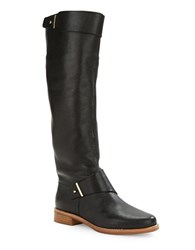 French Connection Grant Pebbled Leather Boots Black