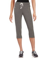 Kensie Cropped Sweatpants Seagull Heather
