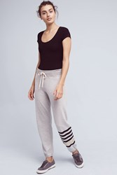 Anthropologie Grey Striped Joggers