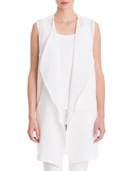 Nic Zoe Draped Vest White