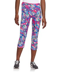 Kensie Floral Athletic Pants Berry