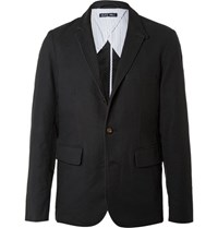 Alex Mill Slim Fit Unstructured Brushed Cotton Blazer Black