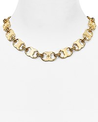 Tory Burch Gemini Link Chain Necklace 16 Tory Gold