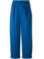 Kenzo High Waisted Trousers Blue