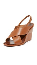 Tory Burch Gabrielle Wedge Sandals Royal Tan