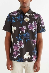 Stussy Flower Popover Shirt Black