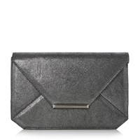 Head Over Heels Beronika Envelope Clutch Bag Pewter