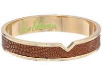 Sam Edelman Leather V Bangle Brown Bracelet