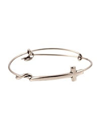 Alex And Ani Cross Wrap Expandable Wire Bangle Rafaelian Silver