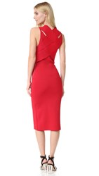 Dion Lee Bandage Back Fitted Dress Red Marle