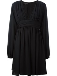 Giambattista Valli V Neck Circle Dress Black