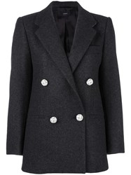 Joseph Notched Lapel Blazer Grey