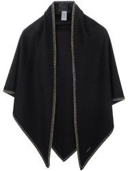 Agnona Trim Detail Scarf Black