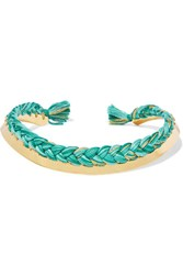 Aurelie Bidermann Gold Plated Braided Cotton Choker