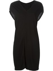 Rick Owens Drkshdw T Shirt Dress Black