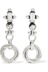 Dannijo Palma Silver Plated Swarovski Crystal Earrings