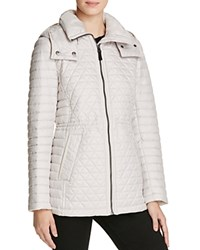 Marc New York Alicia Short Quilted Jacket Ice Grey