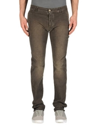 Heavy Project Casual Pants Dark Brown