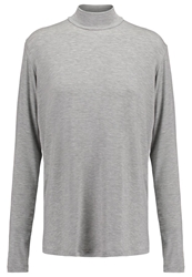 Mbym Lucil Long Sleeved Top Light Grey