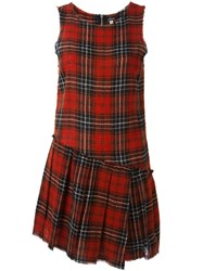 R 13 R13 Plaid Dress Red