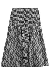 Joseph Midi Skirt With Wool Black