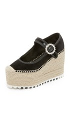Marc By Marc Jacobs Anjelica Platform Mary Jane Wedges Black