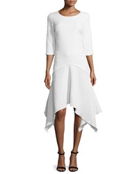 Zac Posen Susanna Handkerchief Hem Dress White