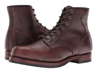 Frye John Addison Lace Up Dark Brown Smooth Pull Up Leather Men's Boots Dark Brown Smooth Pull Up Leather
