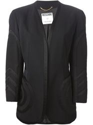 Moschino Vintage Collarless Blazer Black