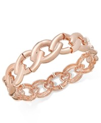 Charter Club Rose Gold Tone Navette Link Stretch Bracelet Only At Macy's