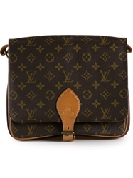 Louis Vuitton Vintage 'Cartouchiere Gm' Shoulder Bag Brown