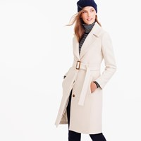 J.Crew Petite Double Cloth Belted Trench Coat