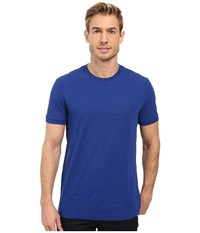 Lacoste Short Sleeve Vintage Washed Tee Steamer Dyed Men's Clothing Blue