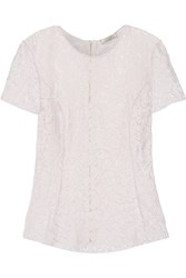 Nina Ricci Guipure And Corded Lace Top Pink