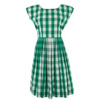 Lowie Green Gingham Prom Dress