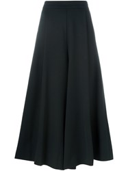 P.A.R.O.S.H. Cropped Wide Leg Trousers Black