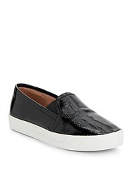 Joie Huxley Patent Leather Slip On Sneakers Black