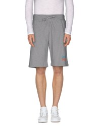 Le Coq Sportif Trousers Bermuda Shorts Men Grey