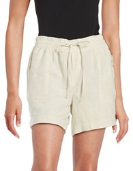 Lord And Taylor Petite Linen Shorts Dark Natural