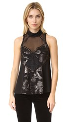 Haute Hippie Once You Kiss A Stranger Top Black