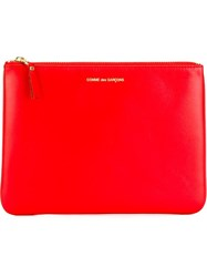 Comme Des Gara Ons Wallet Top Zip Pouch Red
