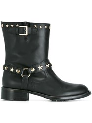 Red Valentino Buckled Boots Black