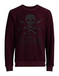 Jack And Jones Jorskull Crewneck Sweatshirt Port Royal