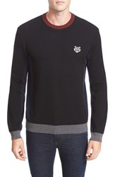 Kenzo Men's Colorblock Wool And Cotton Pullover Black