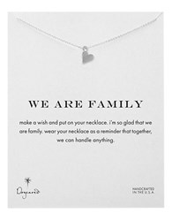 Dogeared We Are Family Open Heart Necklace Silver