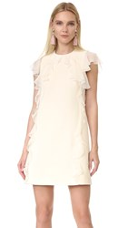 Giambattista Valli Sleeveless Ruffle Dress White