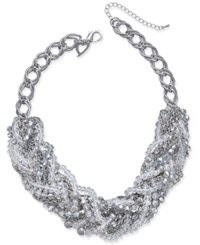 Thalia Sodi Chain Link Statement Necklace Only At Macy's Rho Crys