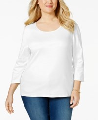 Karen Scott Plus Size Scoopneck T Shirt Only At Macy's