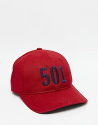 Levi's 501 Baseball Cap In Red Red