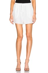 Chloe Crepe De Chine Shorts In White